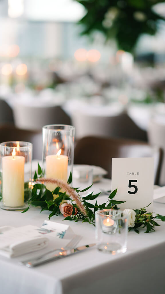 wedding dining table setup